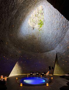 Image 32 of 32 from gallery of Hotel Grand Hyatt Playa del Carmen / Sordo Madaleno Arquitectos. Photograph by Sordo Madaleno Arquitectos Spa Luxe, Luxury Spa, Archdaily Mexico, World Festival, Grand Hyatt, Spa Design, Design Ideas, Interior Design Magazine, Hotel Spa