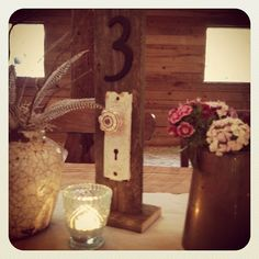Table Numbers for a country wedding... so sweet