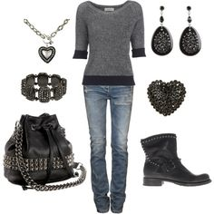 Biker Chick! Love this look