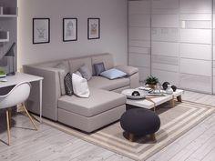 Однокомнатная хрущевка после перепланировки - Дизайн интерьеров | Идеи вашего дома | Lodgers