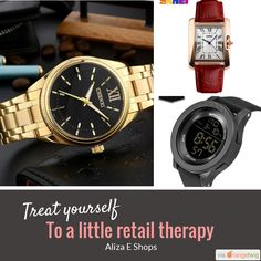 Treat Yourself, Retail Therapy, Must Haves, Watch, Store, Check, Shopping, Products, Clock