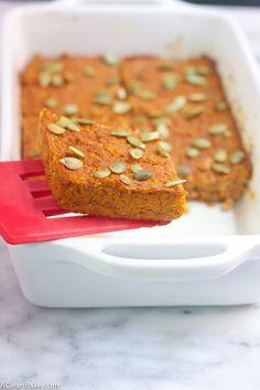 Pumpkin Quinoa Baked Breakfast bars (Grain-Free, Gluten-Free, Paleo, Sugar-Free, and Vegan-adaptable)
