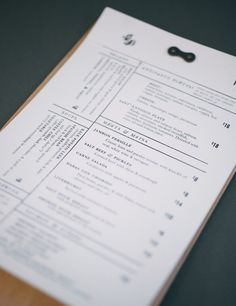 great menu design