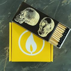 Skulls can give anything an edge ;) Our favorite matchbox.