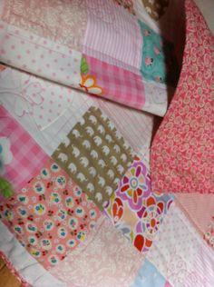 beautiful handmade patchwork baby girl by DragonflyBabyQuilts, $140.00