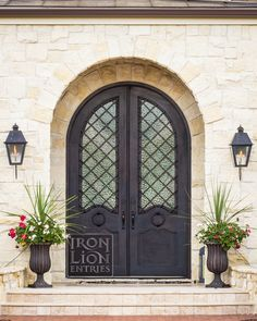 Iron Lion Entries - iron door - This french cottage style iron door turned out amazing! The lattice scroll in this design just ties it all together.