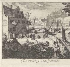Gezicht op de Overtoom bij Amsterdam, Simon Frisius, 1601 - 1648 - Rijksmuseum