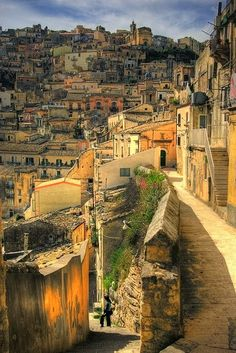Ragusa ~ is one of the most charming towns in Sicily, set amidst the rocky peaks northwest of Modica , Italy