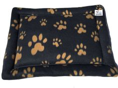 Black Dog Bed, Small Pet Pad, Cat Bed Mat, Washable Pet Beds, Puppy Bedding, Small Crate Mat, Paw Print Fabric, Couch Pad, Made in Colorado #SmallPetPad #DogBed #CatMatCushion #PawPrintFabric #KittenBed #BlackDogBed #CatBedMat #WashablePetBeds #SmallCrateMat #PuppyBedding
