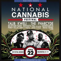 Excited to come together again at the RFK Festival Grounds in DC on April 22, 2017 for the 2nd Annual NatiCANN Festival with special guests Talib Kweli, The Pharcyde + more. National Cannabis Festival brings together activists, business owners and enthusiasts to celebrate the spirit of the movement and while enjoying a full day of music, education sessions, wellness, art, activism, and culture.Thi