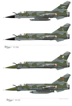 MirageF1family - Dassault Mirage F1 — Wikipédia Military Jets, Military Aircraft, Military Weapons, Fighter Aircraft, Fighter Jets, Mirage F1, Dassault Aviation, Bomber Plane, Train Posters