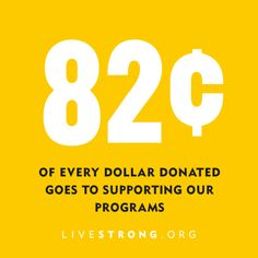 82c of every dollar donated helps to provide cancer support services, including free emotional support, insurance information and fertility services for people affected by cancer.