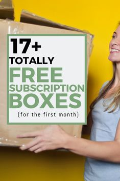17+ companies that are willing to send you a FREE subscription box.  Some cost less than $5!  Check out my scam-free, legit list.