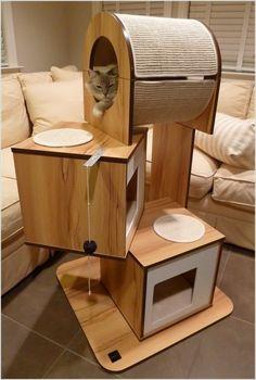 DIY Katzenbaum Katzenmöbel                                                                                                                                                                                 Mehr