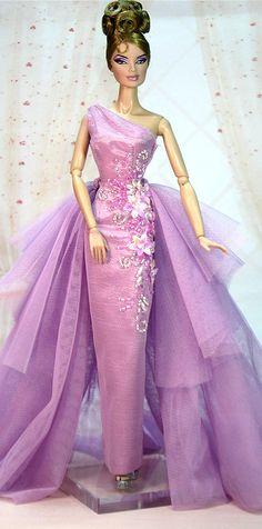 Eifeldolldress EFDD 0114 Fashion royalty evening dress gown barbie silkstone FR
