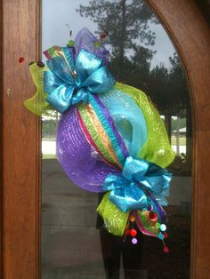 Giant candy wreath