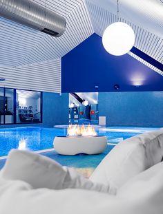 ZEN by Planika www.planikafires.com www.facebook.com/planikafire  #fireplace #poziom511 #hotel #basen #kominek #pool