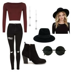 """""""Untitled #25"""" by kitty2563 ❤ liked on Polyvore featuring WearAll, Topshop, Nly Shoes, Maison Michel and RHYTHM"""