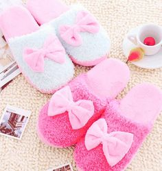 Bow slippers By Blush♡