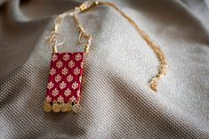 Diy Fabric Jewellery, Fabric Earrings, Textile Jewelry, Antique Jewellery Designs, Handmade Jewelry Designs, Ankle Jewelry, Leather Jewelry, Modern Jewelry, Making Ideas