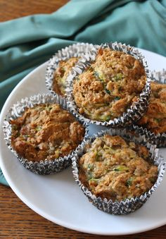 Banana-Zucchini Muffins Double recipe - Add blueberries and oatmeal as half the flour content