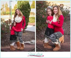Take Great Pictures Anywhere, Family Christmas Pictures, Fresh Look Photography, family of four, holiday photos, green and red, mommy and me
