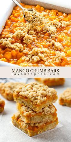Pastry Recipes, Cookie Recipes, Mango Peach Salsa, Sweet Sticky Rice, Savory Pastry, Mango Recipes, Light Desserts, Afternoon Snacks, Dessert Bars