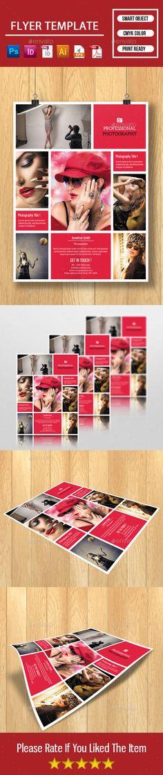 Flyer for Photographer Program Design, Flyer Design, Photography Flyer, Business Flyer Templates, Photoshop Cs5, Creative, File Image, Prints, Color