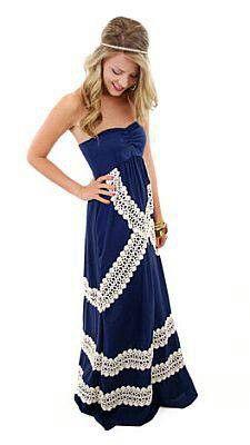 Gorgeous lace embellished maxi - blue door boutique