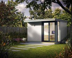 Look at Modern Backyard Office Backyard Cabin, Backyard Studio, Backyard Sheds, Garden Studio, Outdoor Sheds, Backyard Retreat, Outdoor Office, Backyard Office, Modern Backyard