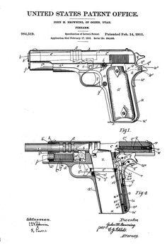 Its not a hand gun blueprint its a floor plan maniac why so colt 1911 firearm patent patent print wall decor gun art firearm art malvernweather Gallery