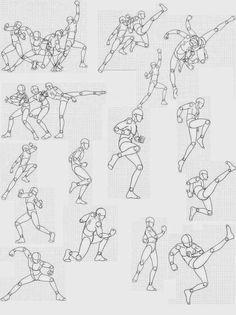 Dibujo gestual de la figura humana Pose study in pencil