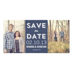 #Chic #Navy Save The Date Photo #Cards