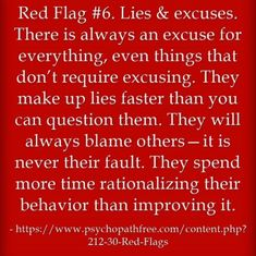 Lies and excuses...