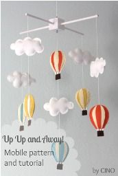 Tutorial: Up Up and Away! hot air balloon mobile · Sewing | CraftGossip.com