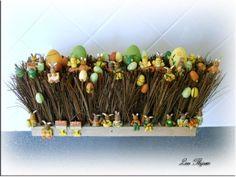hoe maak je een paasdecoratie van hout en gaas - Google zoeken