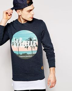 Jack & Jones Sweatshirt with Retro Maui Print