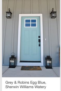 Front door color-SW Watery