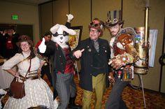 Steampunk having fun at Steamathon 2015. Doc Phineas' World Steampunk Conventionin in Las Vegas at the Main Street Station Hotel and Casino #steamathon