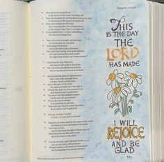 Bible art journaling by Peggy Thibodeau www.peggyart.com This is the day the Lord has made