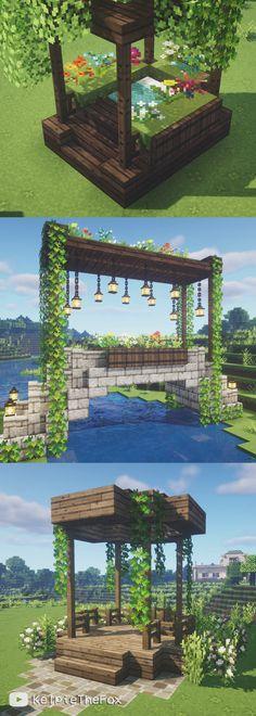 Minecraft Garden, Minecraft Mansion, Minecraft Cottage, Cute Minecraft Houses, Minecraft Room, Minecraft Plans, Amazing Minecraft, Minecraft Blueprints, Minecraft Crafts