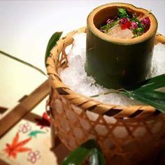 水無月の先付けは茄子素麺でございます これからからの暑い時期に茗荷たっぷりの 茄子素麺を是非ご賞味ください 昼は鱚の風干しを夜は鱚の風干しと蒸し鮑をおのせしております 初夏を感じて頂ける一品でございます  It is a Japanese food restaurant in Kyoto Gion. Please enjoy it was kept on associating with a fresh dish serving it. It is the courtyard in the shop. It is healed very much. I enjoy time and taste time. Please enjoy comfortable time to begin to flow from the moment when I set foot in the shop by all means.  #gionkaryo #kyoto #happy #gion #dericious #instagood #beautiful #follow #love…