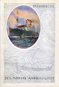 Passenger List, S.S. Stavangerfjord, Norwegian America Line, September 1927, Oslo to New York