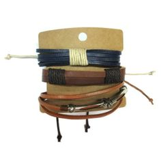 Brown Leather Bracelets Set GBR10039