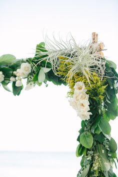 #airplant and #foliage birch ceremony arch by Passion Roots | What a Day! Photography