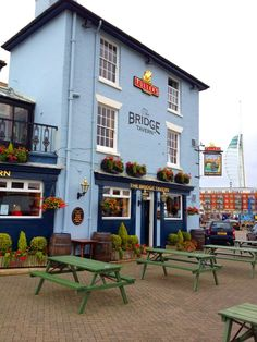 This is an imaginary Friday night pub crawl of my dreams. All Fullers pubs and some of my favourites.  The 1st in Birmingham, this one on Portsmouth quayside. http://bridge-tavern-portsmouth.co.uk/