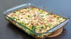 Brokkoliform Dette er en form i ovn som nesten lager seg selv. 1 stk brokkoli (i buketter)1 stk vårløk (i strimler)100 g skinke (i biter)9 stk egg100 g mozzarella1 ts salt0.5 ts nykvernet pepper Forvarm ovnen til 190 ℃.Smør en ildfast form.Kok brokkolien i saltet vann i et par