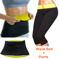 HOT Pants + Waist Belt Super Stretch Neoprene Women Body Shaper Slimming Wraps Control Sets Sports Exercise Workout Bodysuit