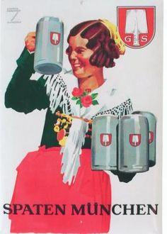 Original Vintage Poster Spatenbrau Beer Munich Hohlwein | eBay