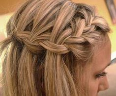 """prep hair with a texturizer (""""beach spray"""" is best but light wax works). seperate the area you want to braid into two sections: (a) the front piece--about 1-1 1/2in wide (b) the top section starting right behind the front piece back to the crown. french braid the front piece starting at your part in the front and work the braid into a turn around the ear. pull larger, thicker strands in from the second section straight down past the braid to hang loosely. use bobby pins to secure and…"""